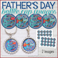 "World's BEST DAD Father's Day, 1"" Bottle Cap Images Printable DOWNLOAD"