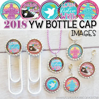 """2018 YW LDS 2018 Mutual Theme, Peace in Christ, D&C 19:23, 1"""" Bottle Cap Images Printable DOWNLOAD"""