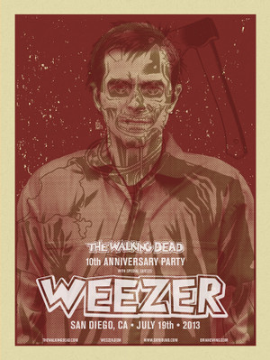 WEEZER WALKING DEAD BLOOD RED SET
