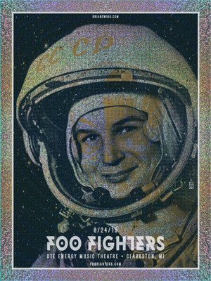 """FOO FIGHTERS - MICHIGAN AP FOIL"""