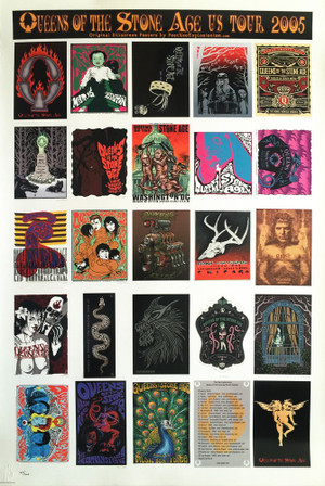 """QUEENS OF THE STONE AGE""  - Uncut Postcard Sheet"