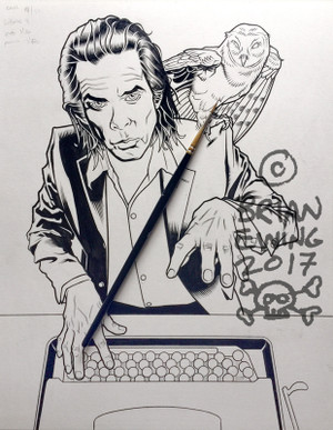 """ NICK CAVE"" Original Art"