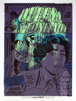 """  QUEENS OF THE STONE AGE GREEN DAY"" test print 3"