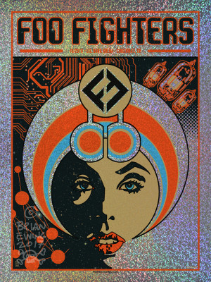 """  FOO FIGHTERS"" CINCI foil"