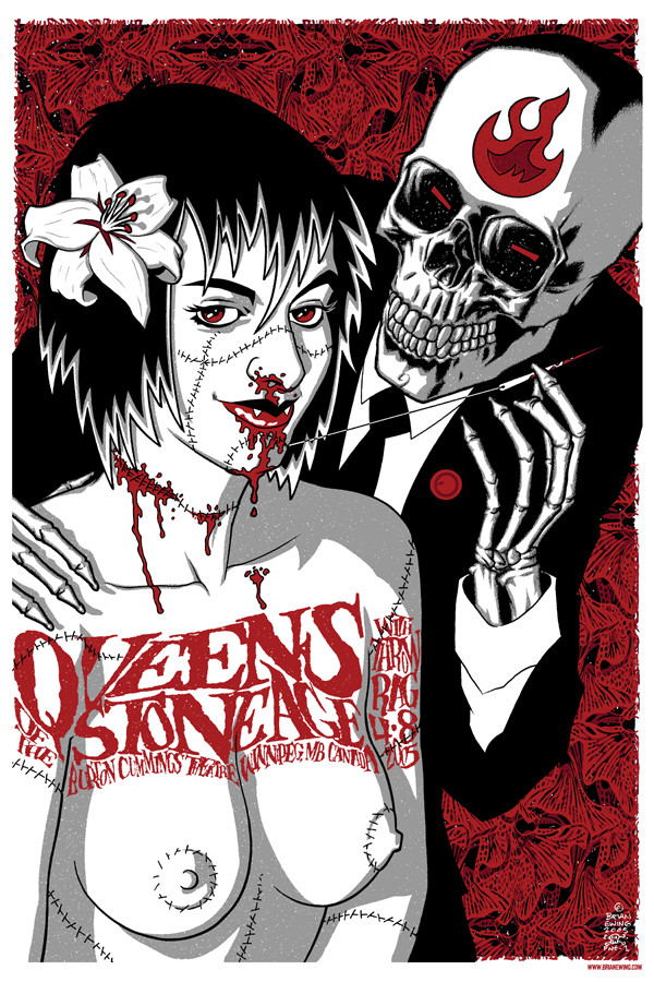"""""""  QUEENS OF THE STONE AGE""""  THROWRAG"""