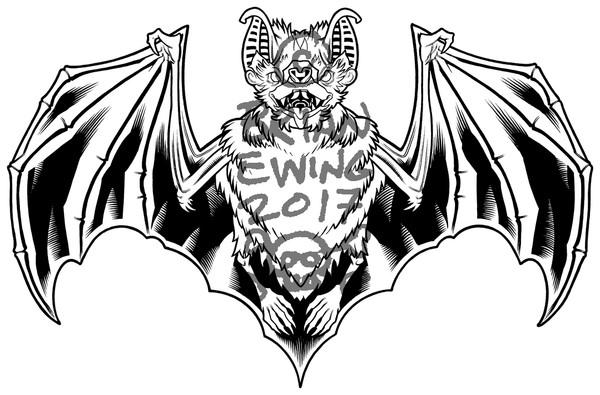 """BAT CARD ORIGINAL ART"""