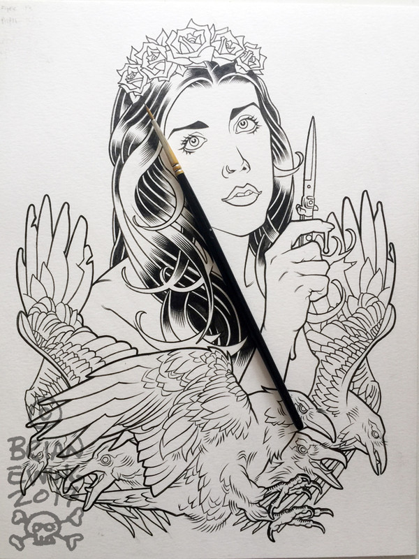 """MURDER CITY DEVILS""  Original Art"