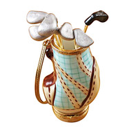 Golf Bag W/ 6 Clubs Rochard Limoges Box
