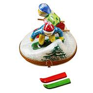 Skier & Snowboarder Rochard Limoges Box