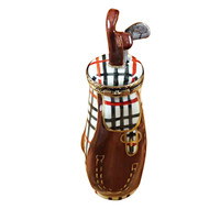 Plaid Golf Bag W/Removable Club Rochard Limoges Box