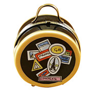 Luggage Round - World Sticker Rochard Limoges Box