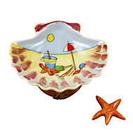 Sea Shell Beach Scene W/Starfish Rochard Limoges Box