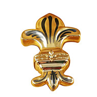 Fleur De Lys -  Gold Rochard Limoges Box