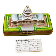 Capital Dome With Removable Bill Of Rights Rochard Limoges Box
