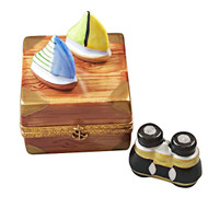 Sailboats With Removable Binoculars Rochard Limoges Box