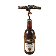 Bordeaux Bottle W/Corkscrew Rochard Limoges Box