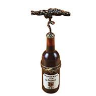 Bordeaux Bottle W/Corkscrew Rochard Limoges Box