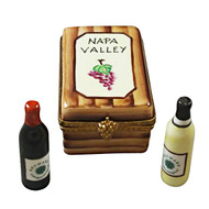 Napa Valley Wine Crate Rochard Limoges Box