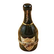 Green Champagne Bottle Rochard Limoges Box