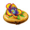 Pansy - Yellow Rochard Limoges Box