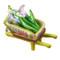 Wheelbarrow Lime Green W/Cut Flowers Rochard Limoges Box