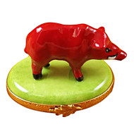 Limoges Imports Red Boar Limoges Box