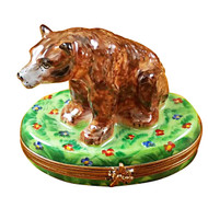Limoges Imports Light Brown Bear Limoges Box