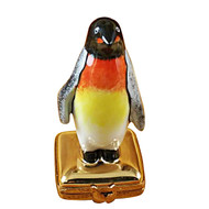 Limoges Imports Penguin On Gold Box Limoges Box