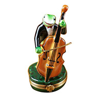 Limoges Imports Frog Playing Bass Limoges Box
