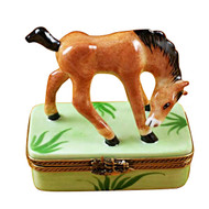 Limoges Imports Standing Horse Limoges Box
