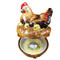 Limoges Imports Brown Hen W/Chicks Limoges Box