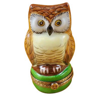 Limoges Imports Owl Of Wisdom Limoges Box