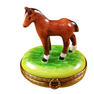 Limoges Imports Standing Mini Horse Limoges Box