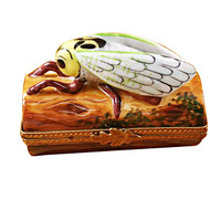 Limoges Imports Locust On Log Limoges Box