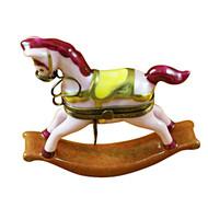 Limoges Imports Pink Rocking Horse Limoges Box