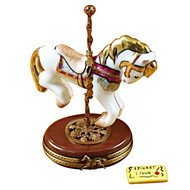 Limoges Imports Merry Go-Round Horse Limoges Box