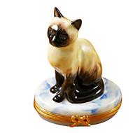 Limoges Imports Simease Cat Limoges Box