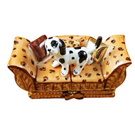 Limoges Imports Spotted Dog On Couch Limoges Box