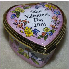 Halcyon Days 2001 Mini St. Valentine's Day Heart