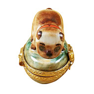 Limoges Imports Fetching Pug Limoges Box