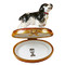 Limoges Imports Black & White Cocker Spaniel Limoges Box