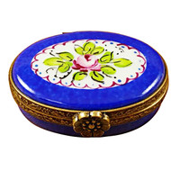 Limoges Imports Small Blue Oval Limoges Box