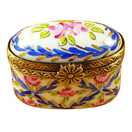 Limoges Imports Tiny Blue Oval Limoges Box