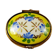 Limoges Imports Tiny Yellow Oval Limoges Box