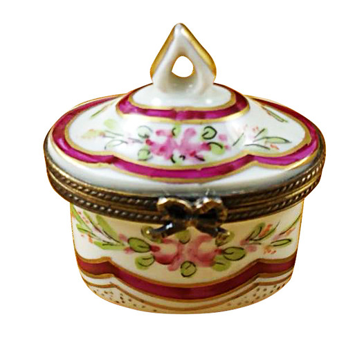 Limoges Imports Red Crown Top Limoges Box
