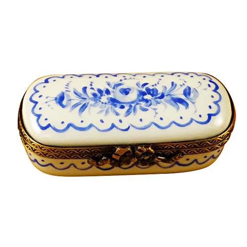Limoges Imports Blue Delft Rectangle Limoges Box