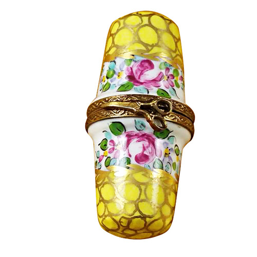 Limoges Imports Double Yellow Thimble Limoges Box