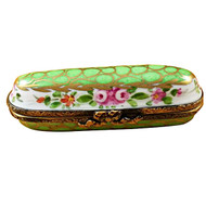 Limoges Imports Green Needle Box Limoges Box