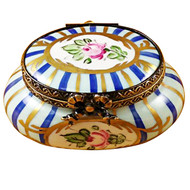 Limoges Imports Blue Oval W/Flowers Limoges Box