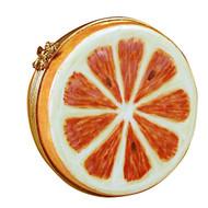 Limoges Imports Orange Half Limoges Box